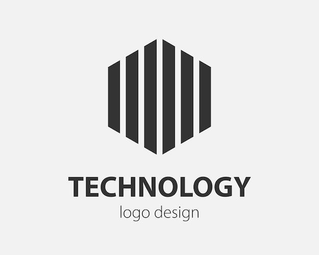 트렌드 로고 벡터 육각형 기술 디자인입니다. 스마트 시스템, 네트워크 응용 프로그램, 암호화 아이콘에 대한 기술 로고.