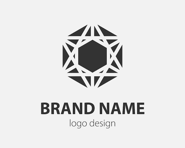 Тренд логотип вектор шестиугольник технический дизайн. технологический логотип для интеллектуальной системы, сетевого приложения, крипто-значка.