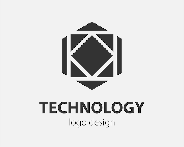 Trend logo vector hexagon tech design. technology logotype for smart system, network application, crypto icon.