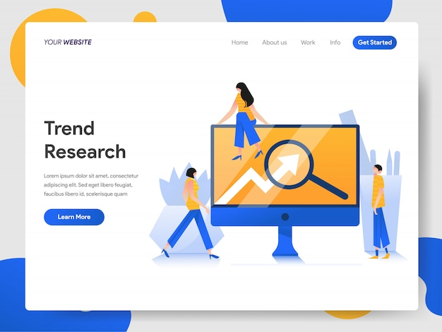 Trend research  concept