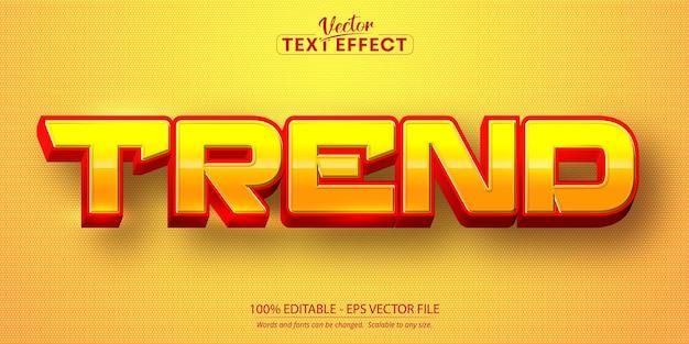 Trend text, cartoon style editable text effect