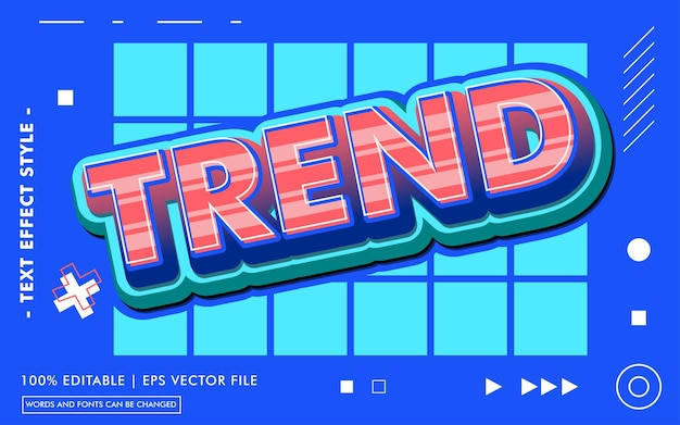 Trend text effect template