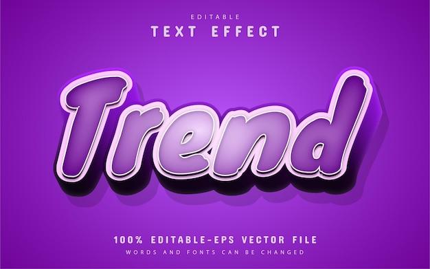 Trend text, purple 3d text effect