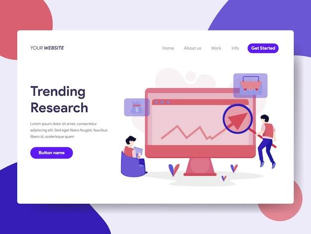 Trending keyword research illustration