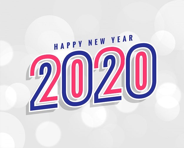Trendy 2020 new year background in stylish