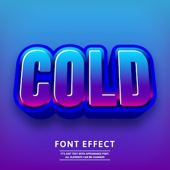 Trendy 3d cold text effect