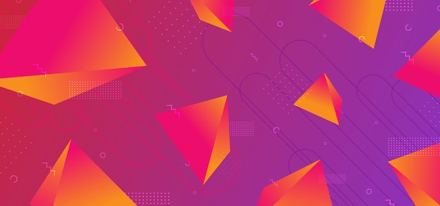 Trendy 3d geometric abstract background