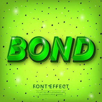 Trendy 3d typeface text effect title