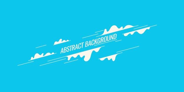 평면 최소한의 스타일 벡터 포스터와 유행 추상 미술 기하학적 배경