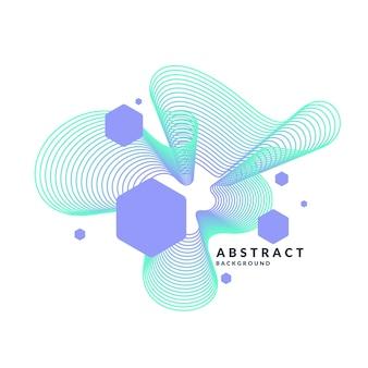 フラットでミニマルなスタイルのトレンディな抽象芸術の幾何学的な背景。
