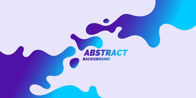 Trendy abstract background composition of amorphous forms and lines