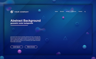 Trendy abstract background for your landing page design. Minimal background for website designs.