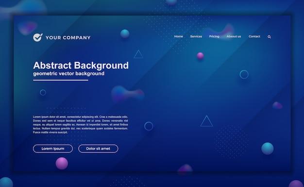 ランディングページデザインのトレンディな抽象的な背景。ウェブサイトのデザインのための最小限の背景。