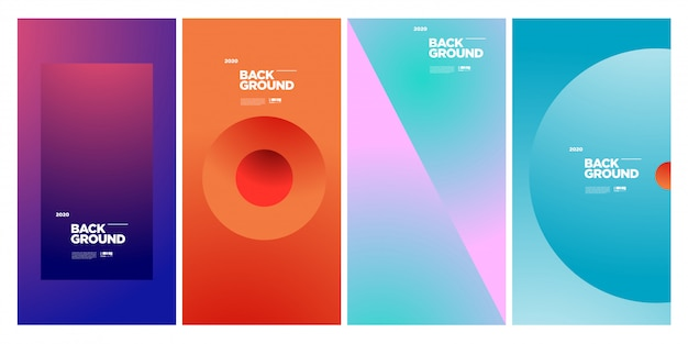 Trendy abstract colorful geometric poster template