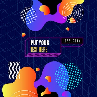 Trendy abstract flat template