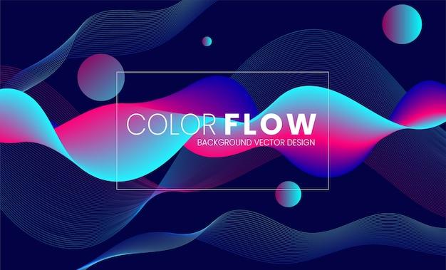 Модный абстрактный поток жидкости красочный фон
