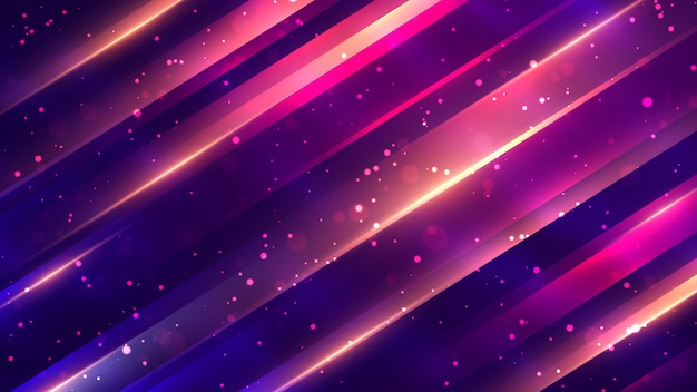 Trendy abstract geometric background with sparkling dots.