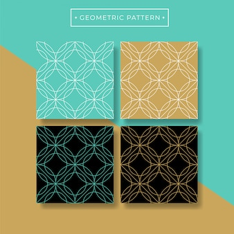 Trendy abstract geometric seamless pattern collection