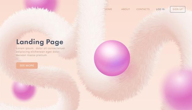 ウェブサイト用のトレンディな抽象的なランディングページテンプレート