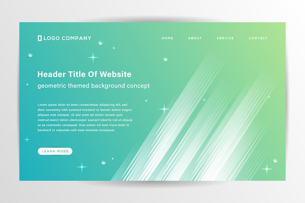 Trendy abstract landing page