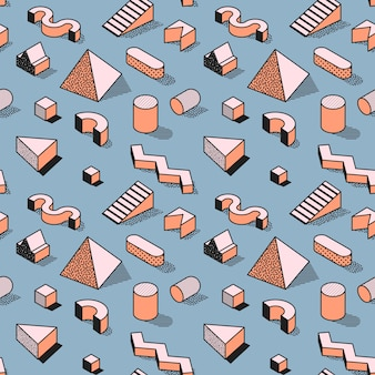 Trendy abstract memphis seamless pattern