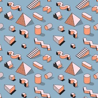 Модный абстрактный мемфис бесшовные модели