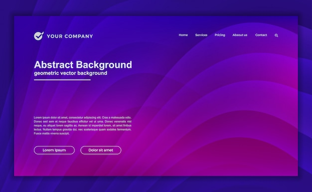 Trendy abstract purple background for your landing page