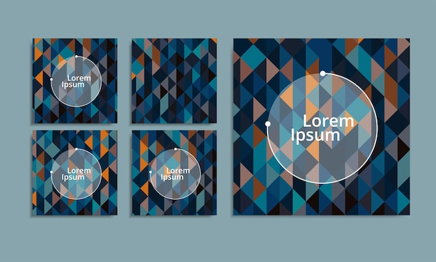 Trendy abstract square art templates
