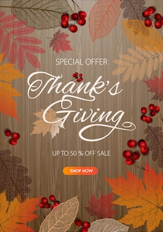 Trendy abstract thanksgiving template vector image