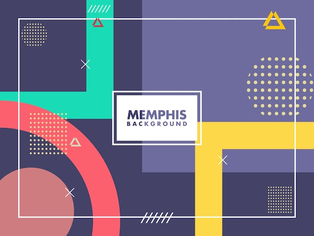 Trendy background style in memphis