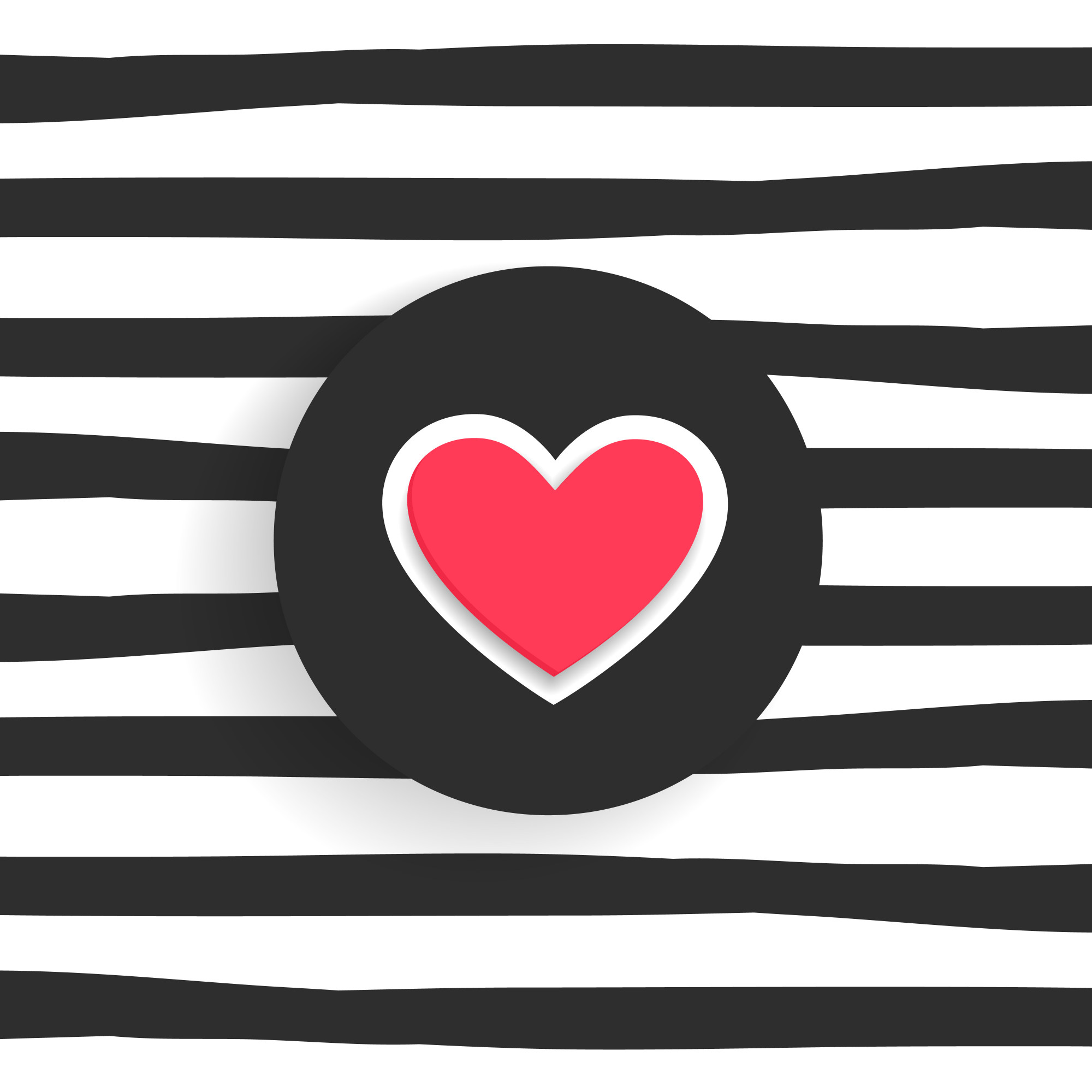 Trendy background with heart shape