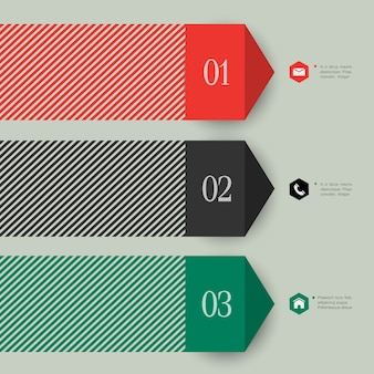 Trendy banner arrow  for infographics