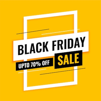 Trendy black friday sale banner on yellow