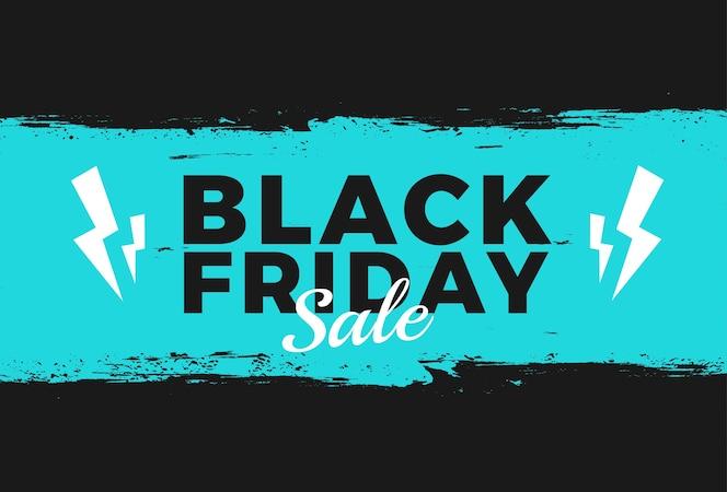 Evento di vendita venerdì nero alla moda con texture splash per il mercato di promozione del modello di banner e flayer online