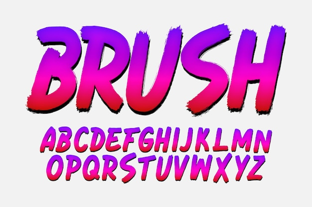 트렌디한 브러시 글꼴 디자인
