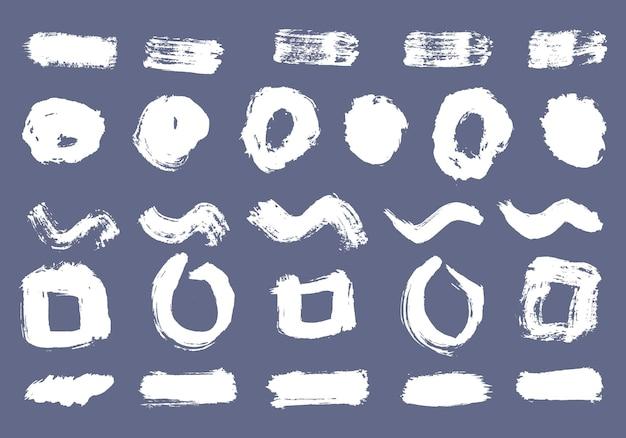 유행 브러시 스트로크 흰색 잉크 페인트 그런 지 배경 흙 배너 그린 수채화 벡터
