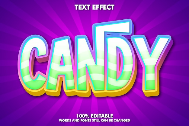 Trendy candy text effect with trendy gradient