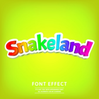 Trendy cartoon lettering with colorful game title text effect