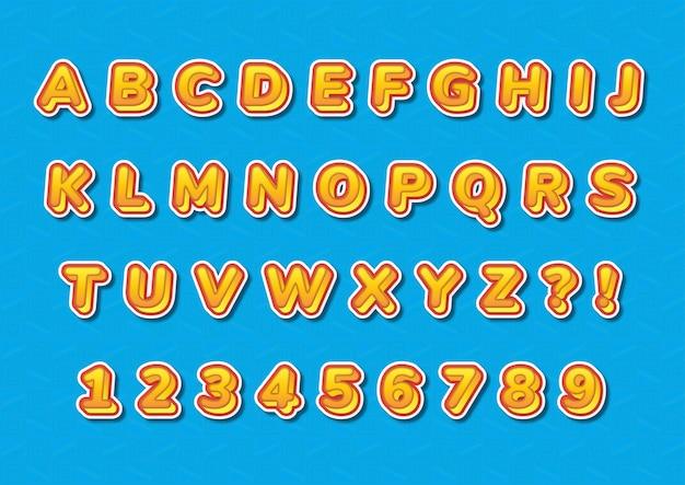 트렌디 한 캐주얼 3d 알파벳 숫자 세트