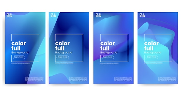 Trendy colorful gradient for social media story template background
