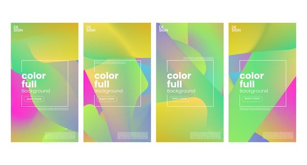 Модные красочные шаблоны градиентных историй в социальных сетях