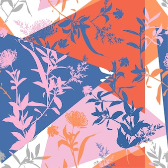 Trendy colorful summer pattern