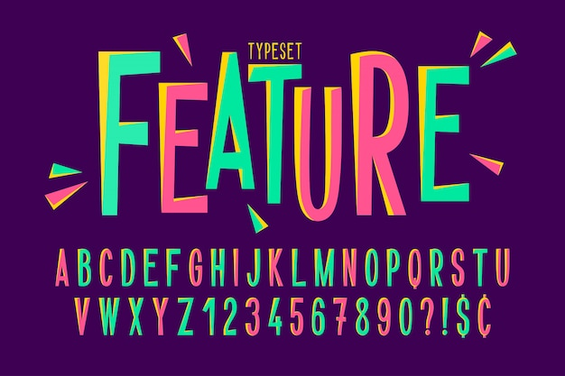 Trendy comical condensed font design