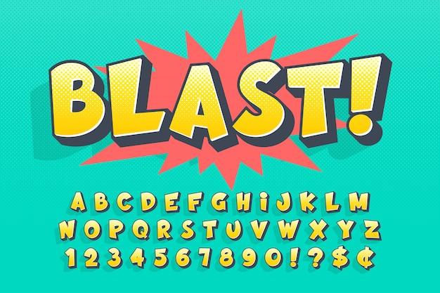 최신 유행 코믹 글꼴 디자인