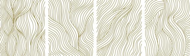 トレンディな現代的な抽象的な創造的な幾何学的なミニマリストの構成のセット