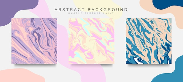 Trendy cover set abstract liquid marble texture modern design. mix of color marble texture.