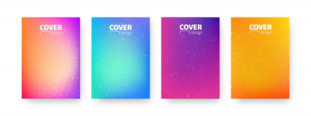Trendy covers design. background modern template design for use web and print. colorful gradients.