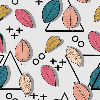 Trendy creative autumn pattern background