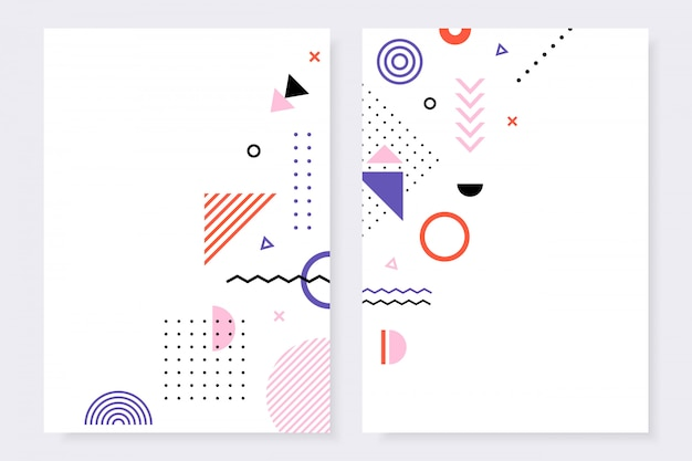 Trendy design template collection of bright covers.