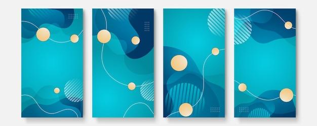 Модный редактируемый шаблон для рассказов социальных сетей, векторные иллюстрации. создавайте фоны для социальных сетей.